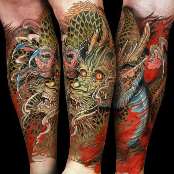 35 dragon tattoos on forearm