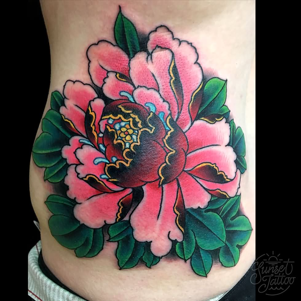 Traditional Flower Tattoos: 43+ Japanese Peony Tattoos Collection