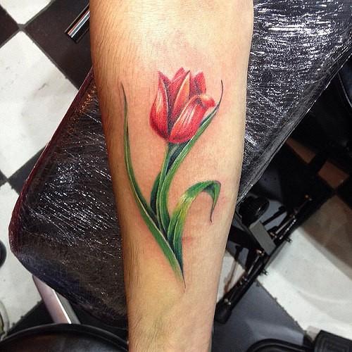 40+ Latest Tulip Tattoos Ideas Collection