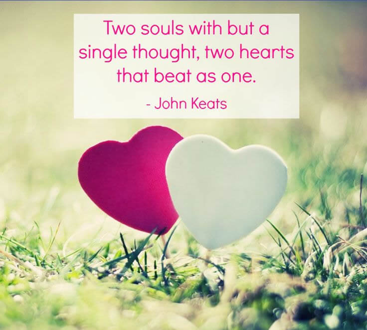 Two Souls With But A Single Thoughttwo Hearts That Beat As One