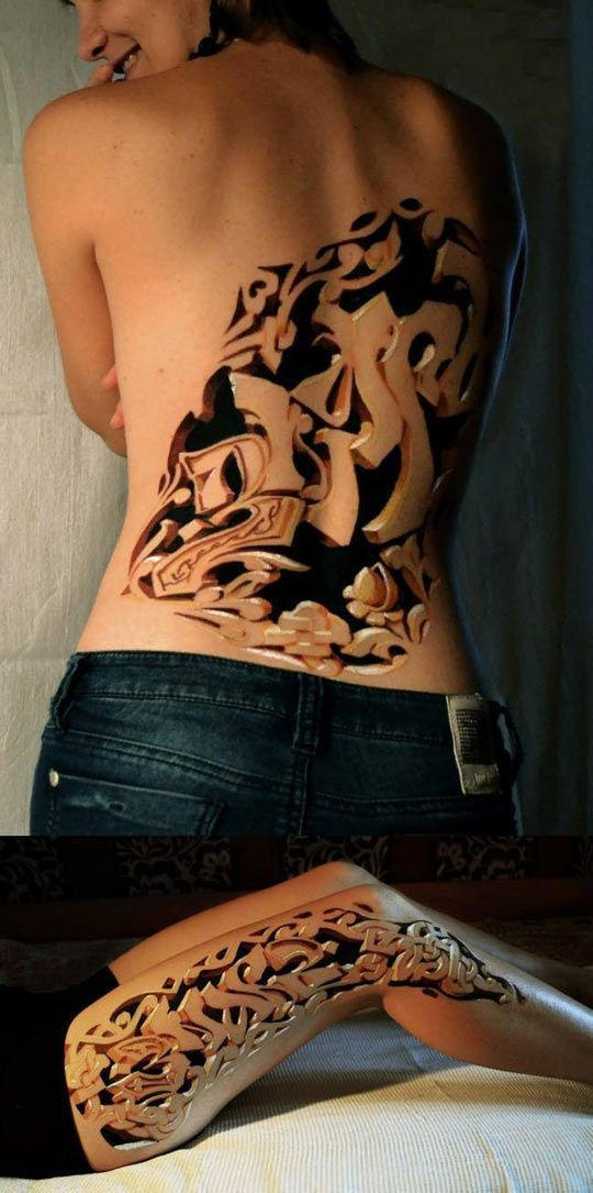 52+ Best 3D Tattoos Design And Ideas