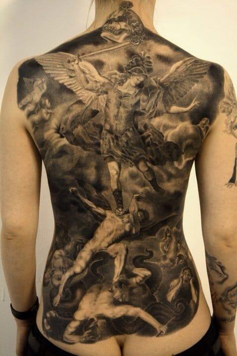Full Back Tattoos - Askideas.com