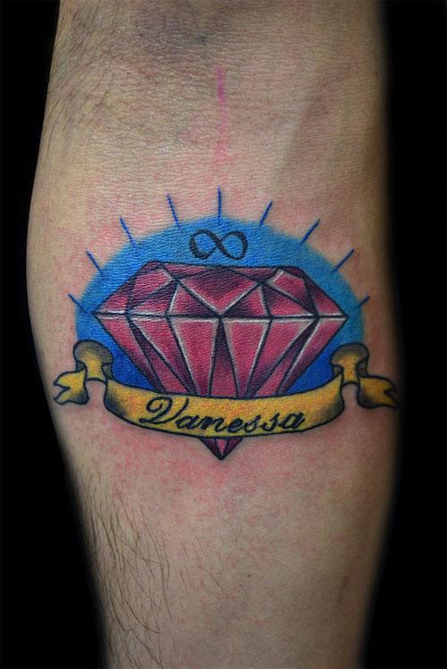 43 amazing diamond tattoos designs. Black Bedroom Furniture Sets. Home Design Ideas