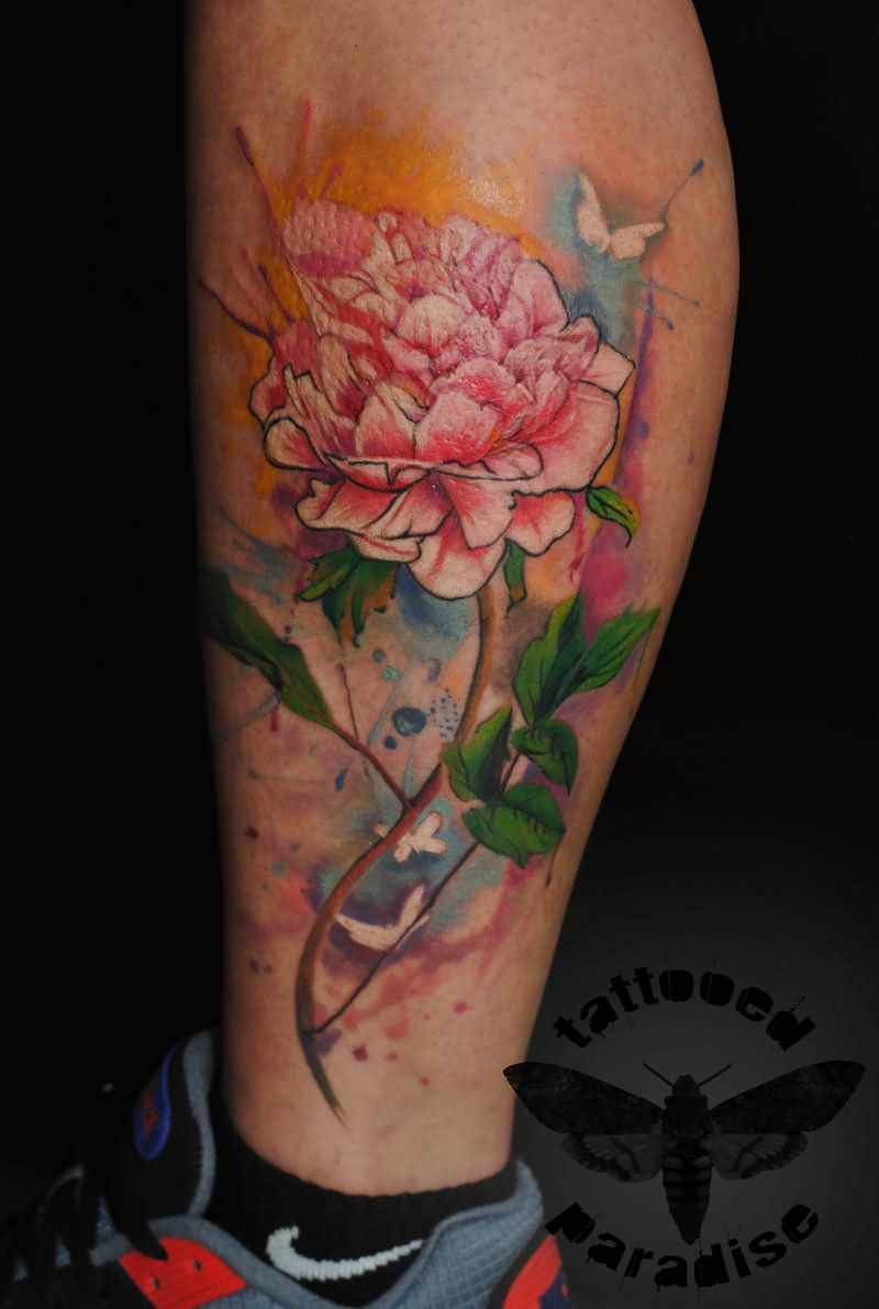 21 realistic peony tattoos. Black Bedroom Furniture Sets. Home Design Ideas