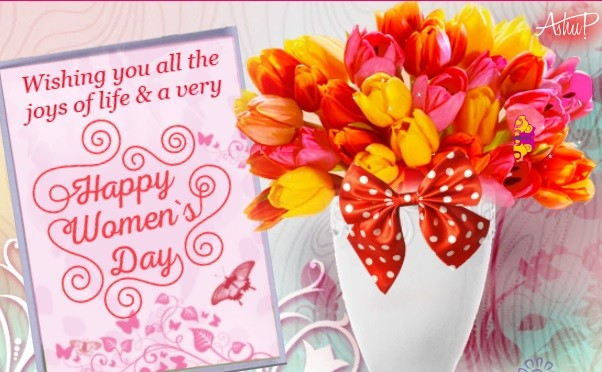 Wishing You All The Joys Of Life U0026 A Very Happy Womenu0027s Day Greeting Card