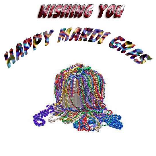 Wishing You Happy Mardi Gras 2017 Colorful Beads