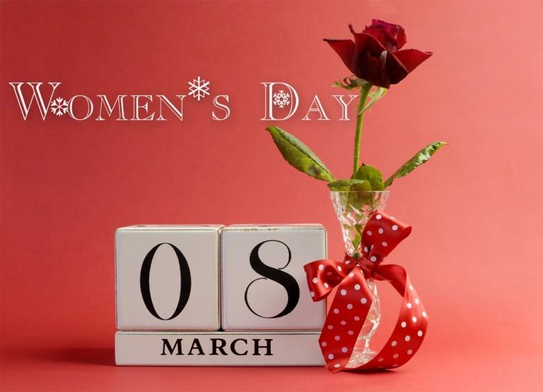 Women's Day 8 March Rose Flower Bud