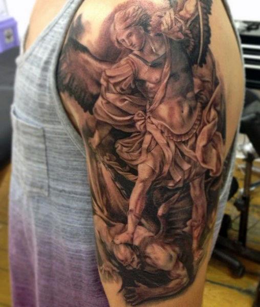 47+ Archangel Michael Tattoos On Sleeve