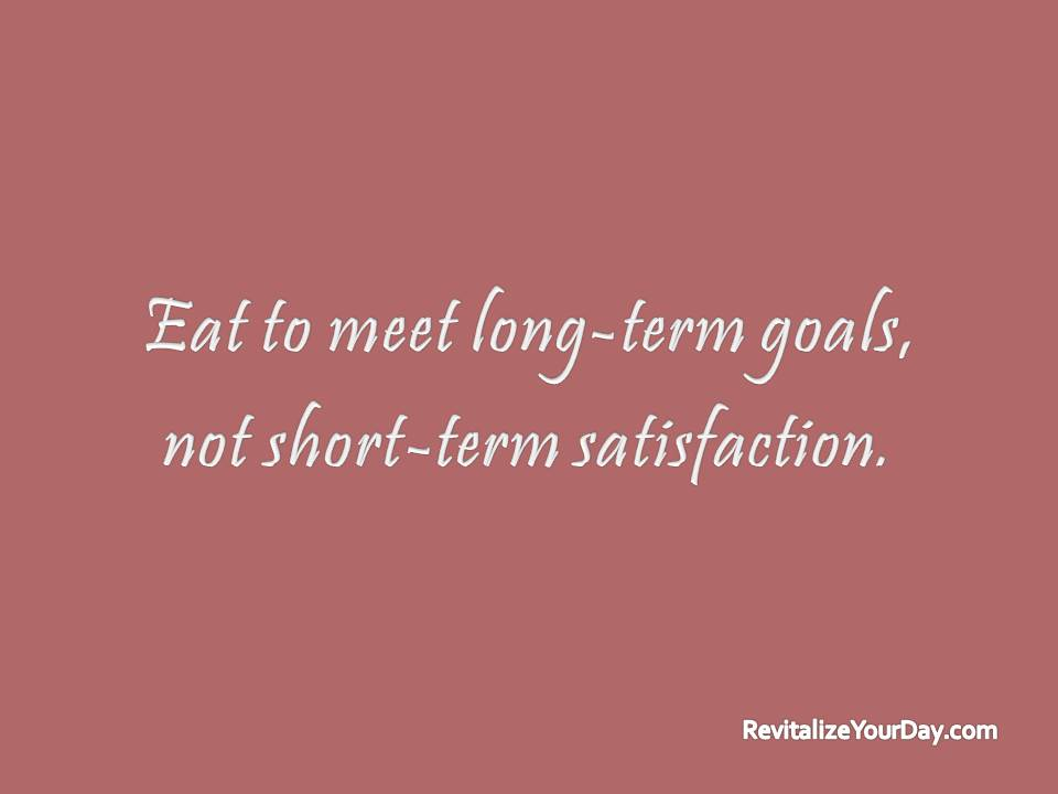 short and long term goals