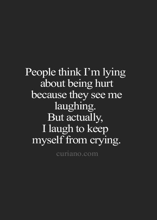 People think i am lying about being hurt because they see ...