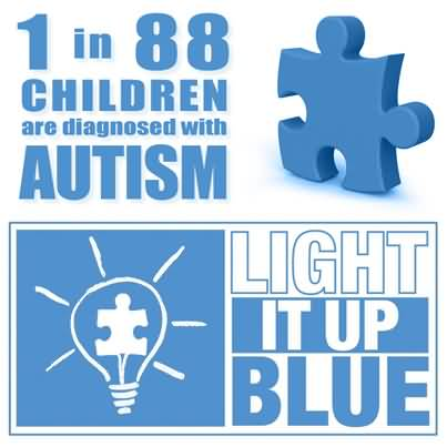 1 In 88 Children Are Diagnosed With Autism Light It Up Blue World Autism  Awareness Day