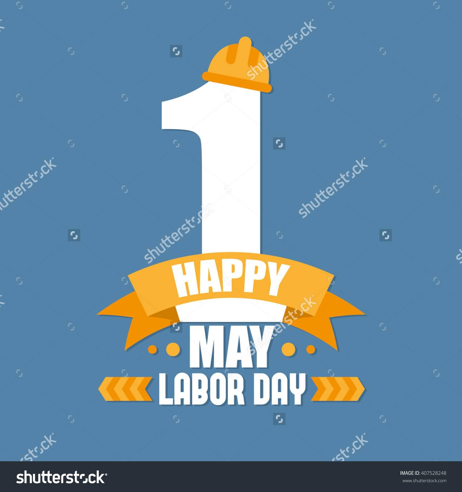 1 May Happy Labor Day Illustration