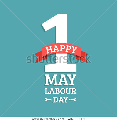 1 May Happy Labour Day Illustration