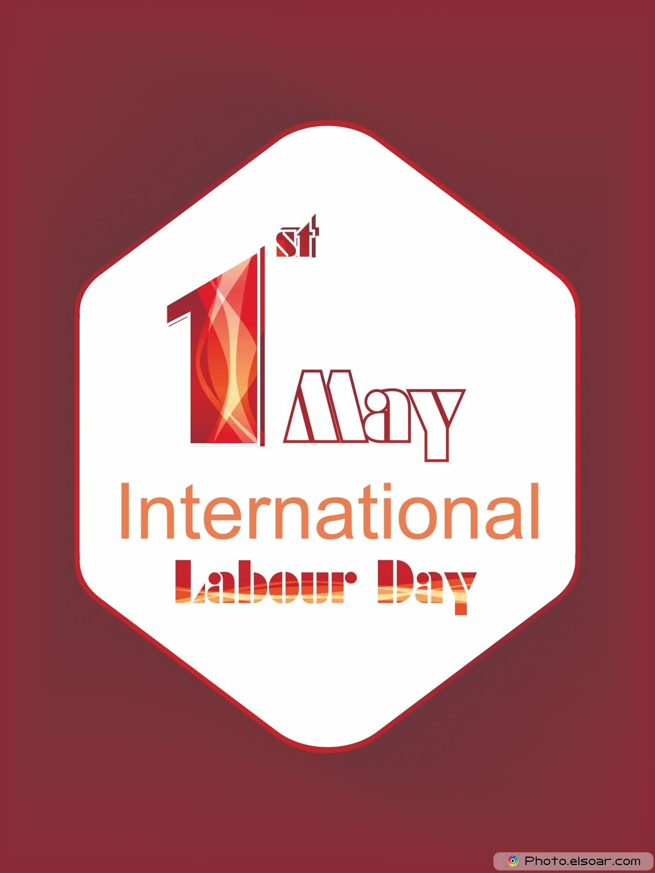 1st May International Labour Day Card