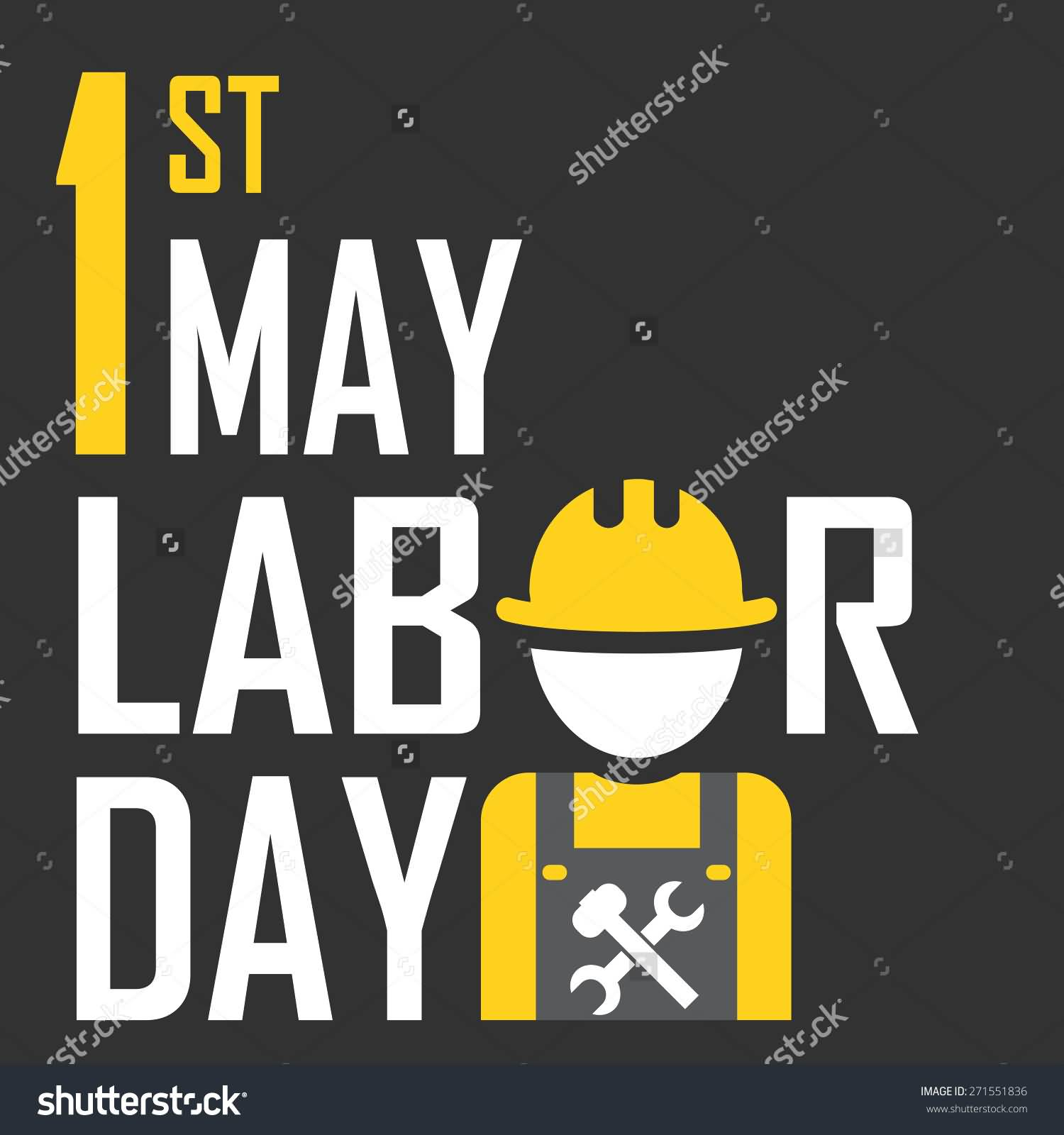 1st May Labor Day Illustration