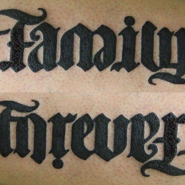 Forevever Ideas Family Tattoo Illusion: 37+ Best Ambigram Tattoos Design And Ideas