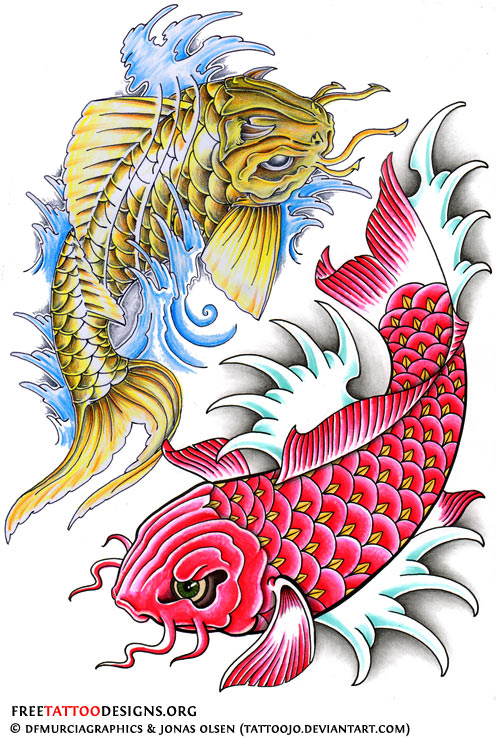 50 Koi Fish Tattoo Designs For Men: 50+ Best Fish Tattoos Design And Ideas