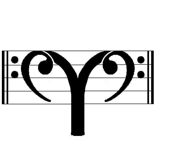 Black Aries Symbol Tattoo Design