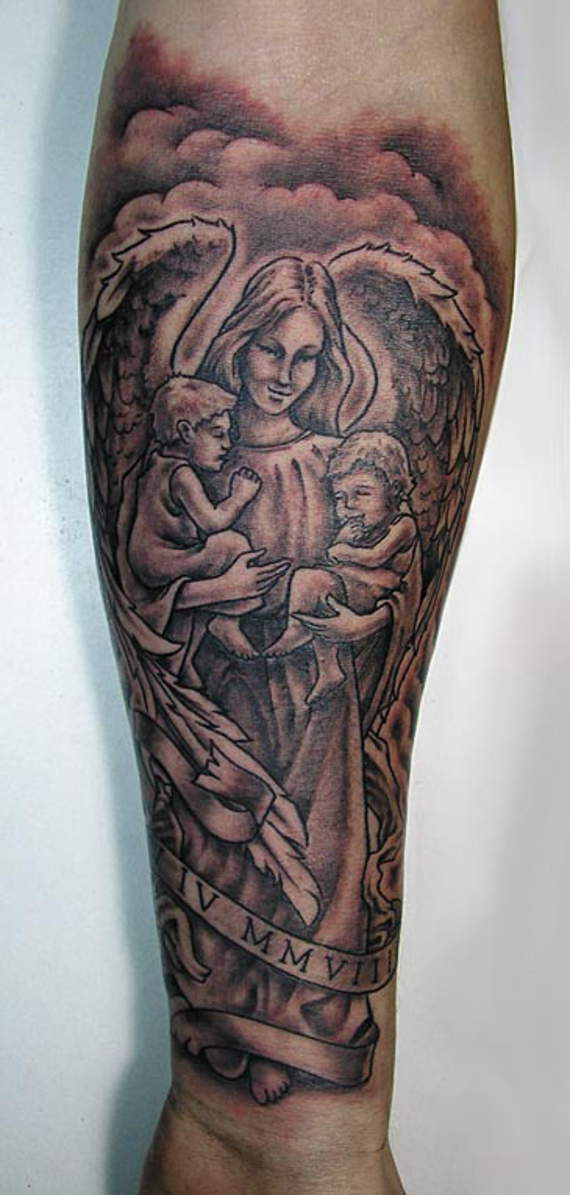50 best angel tattoos design and ideas for Angel tattoos on forearm