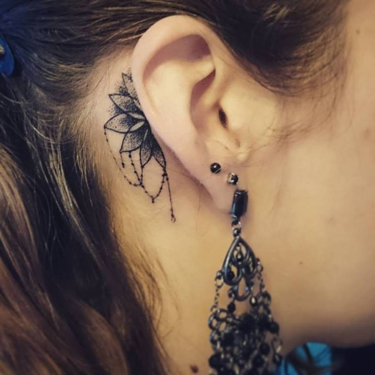 33 Stunning Behind The Ear Tattoos: 52+ Best Ear Tattoos Design And Ideas