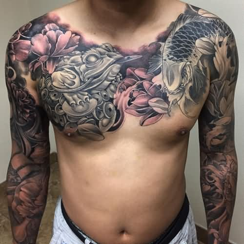 Chest tattoos for Oriental tattoo