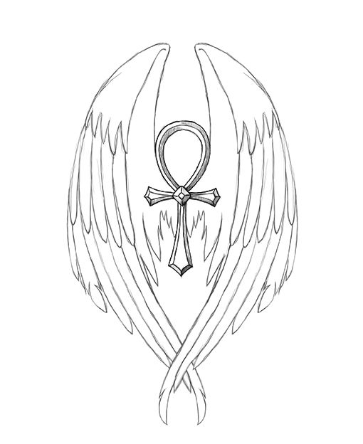 7d88c1cf4 Classic Ankh With Wings Tattoo Design