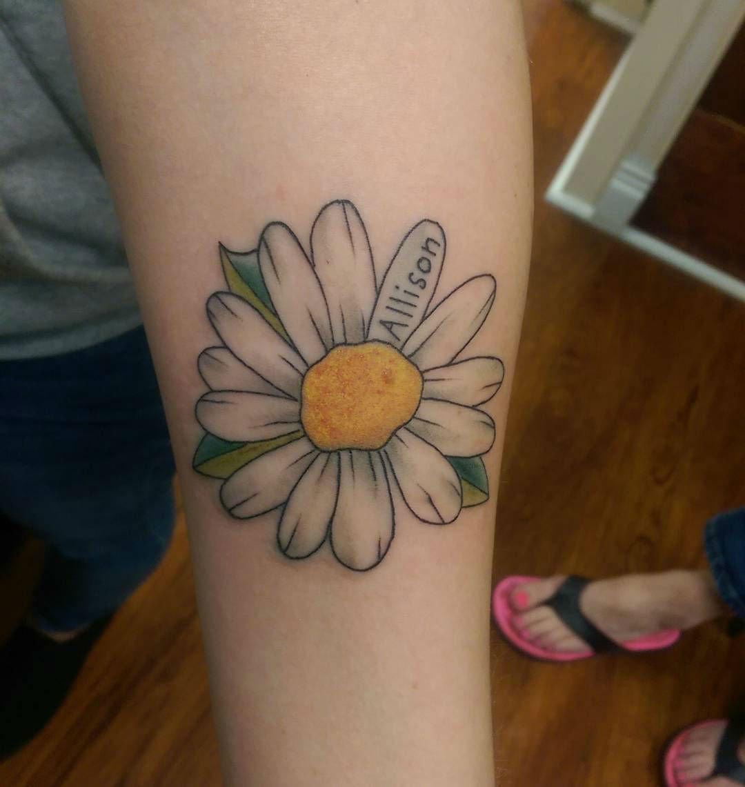 36 best daisy tattoos design and ideas for Daisy of love tattoo sleeve