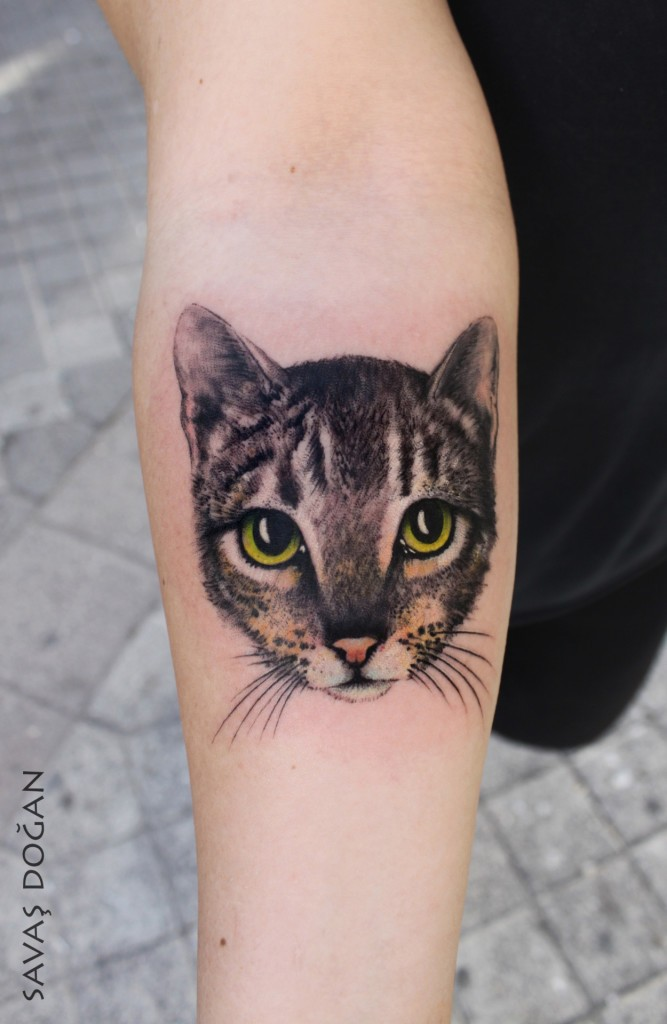 53 best animals tattoos design and ideas for Cool cat tattoo