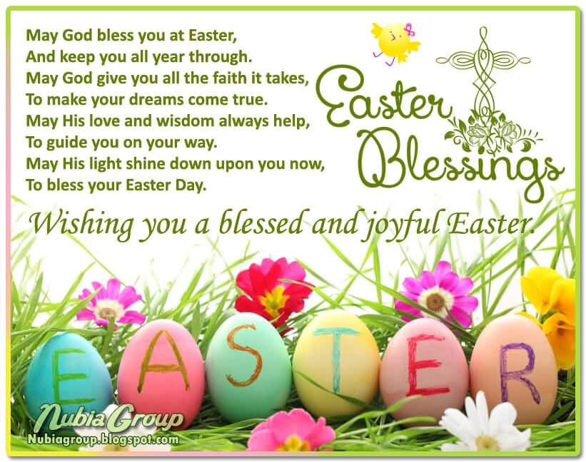 Easter Blessings Wishing You A Blessed And Joyful Easter