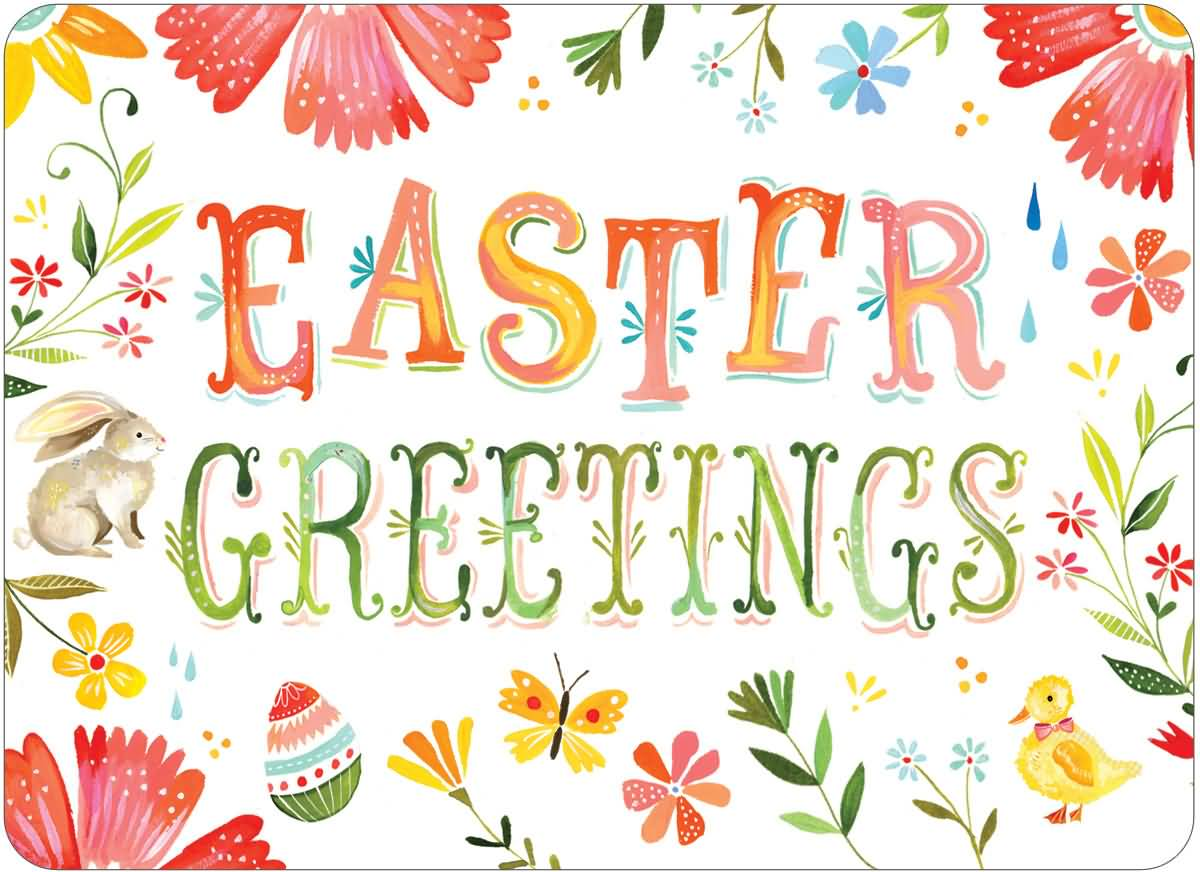 Easter Greetings Beautiful Greeting Card
