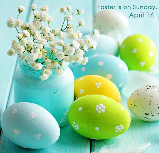 Easter Is On Sunday April 16