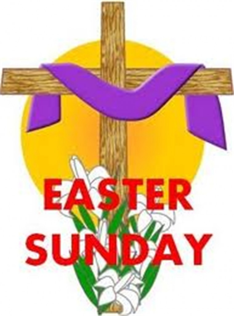 Easter Sunday Wooden Cross With Purple Cloth Greeting Card
