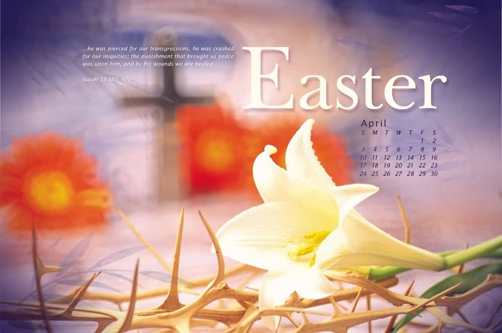 Easter Wishes Calendar Picture