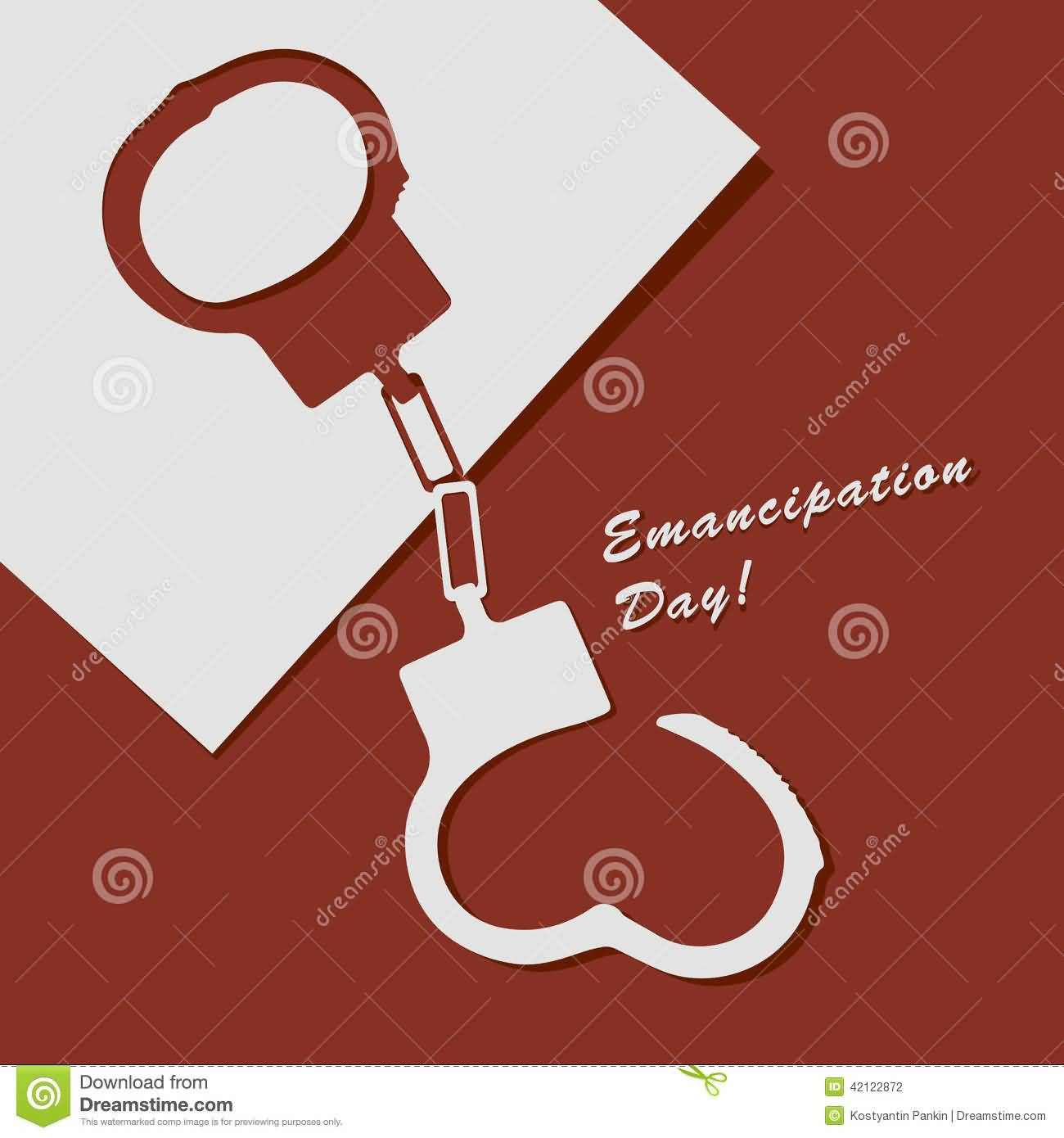 Emancipation Day Handcuffs Illustration