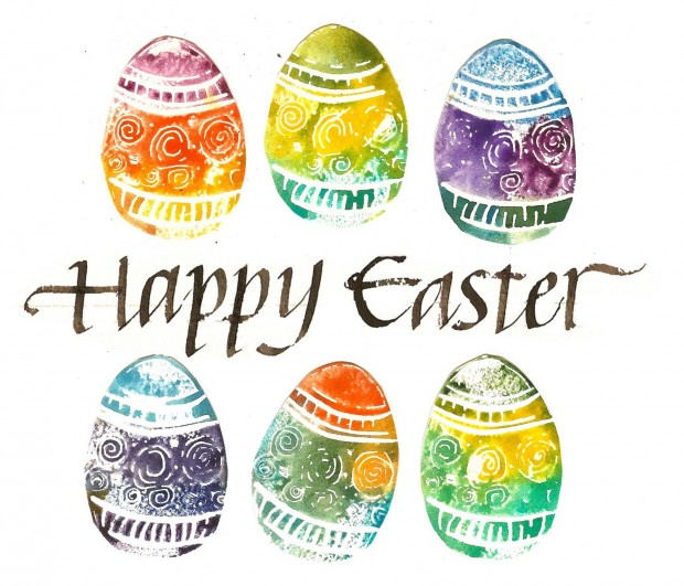 Happy Easter Amazing Painted Eggs Picture