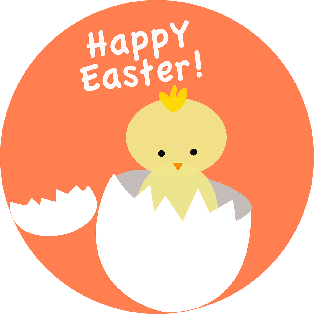 Happy Easter Chicken Out Of Egg Picture