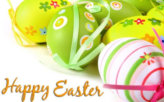 Happy Easter Colorful Eggs Card