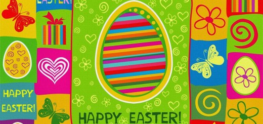 Happy Easter Colorful Greeting Card