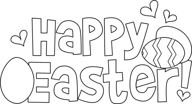 Happy Easter Coloring Page Picture
