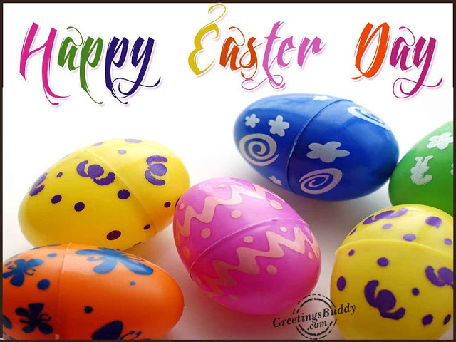 Happy Easter Day Colorful Eggs Picture