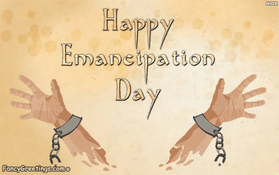 Happy Emancipation Day Broken Handcuff Poster