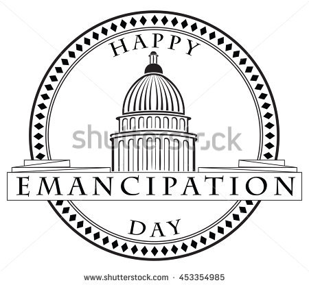Happy Emancipation Day Capitol Stamp Imprint