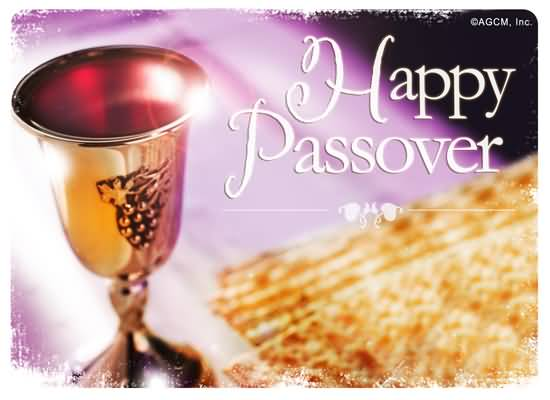Happy Passover Wine Glass Card