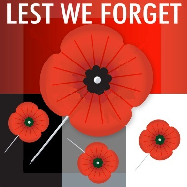 Lest we forget anzac day poppy flowers card mightylinksfo