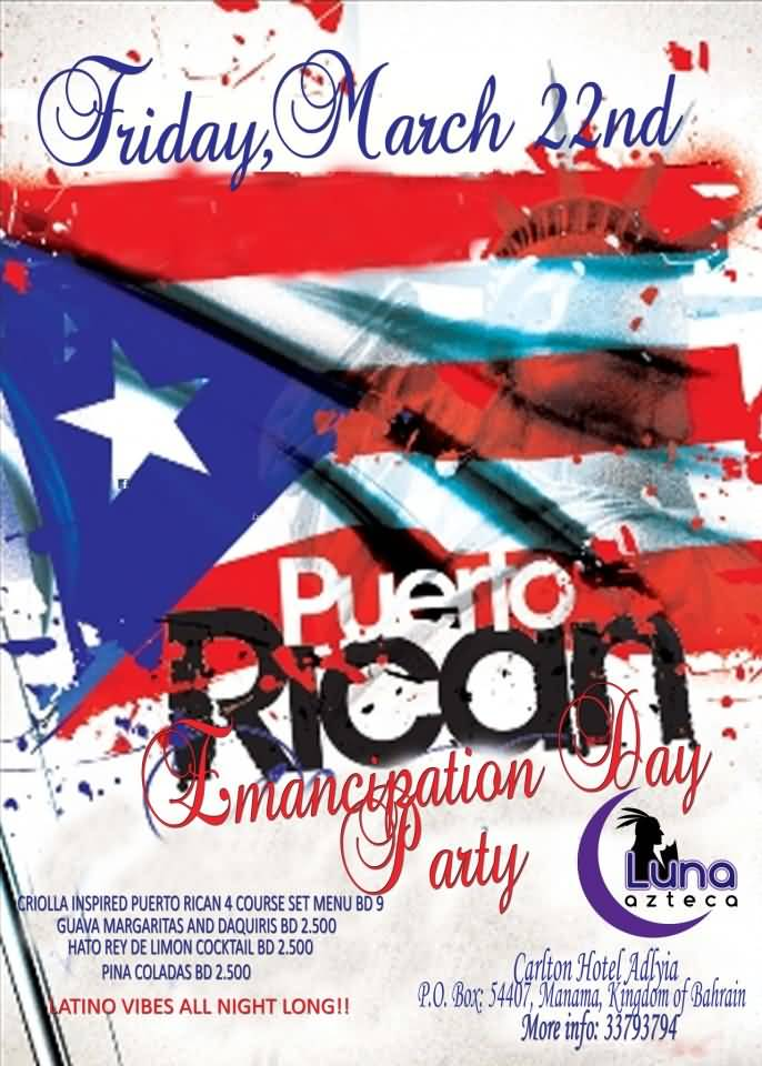 March 22nd Emancipation Day Party Poster
