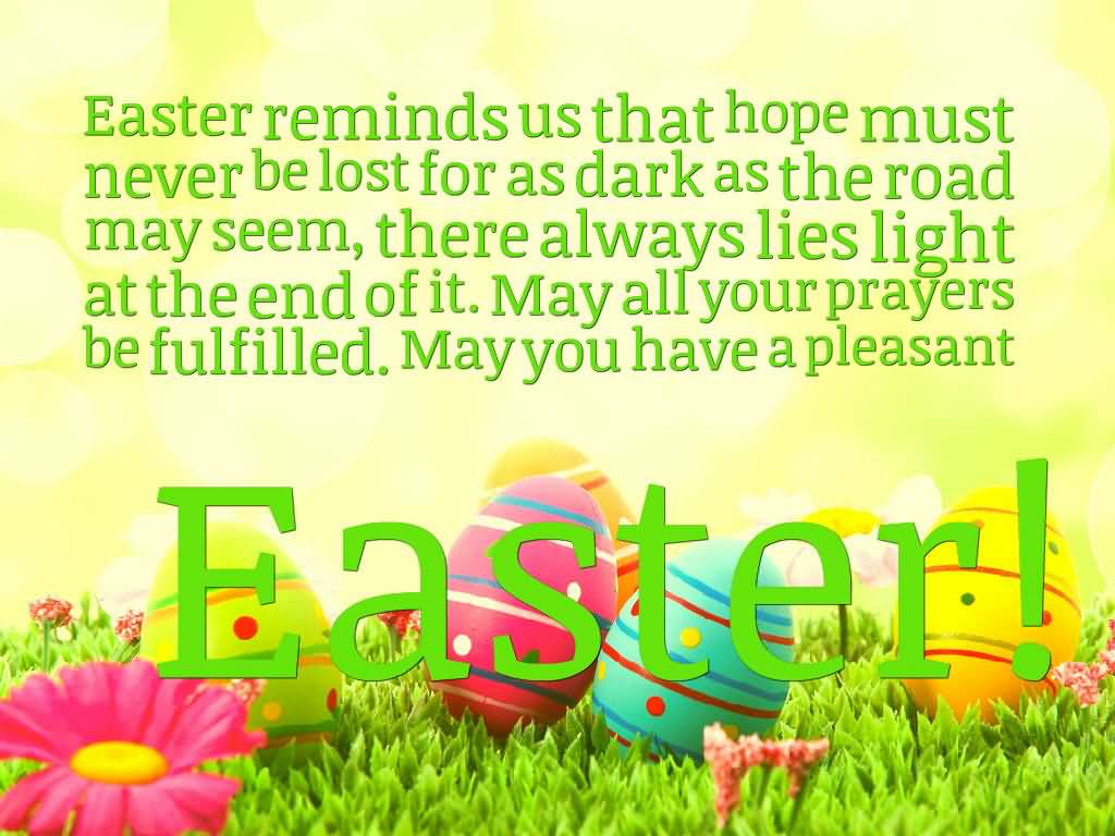 May You Have A Pleasant Easter