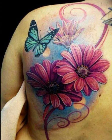Purple Daisy Tattoo: 36+ Best Daisy Tattoos Design And Ideas