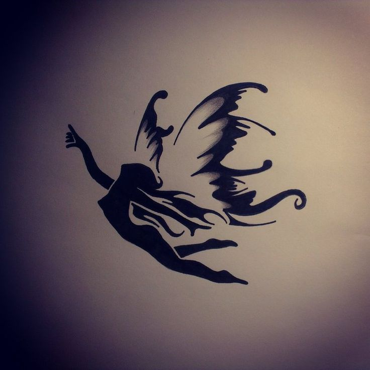 Angel silhouettes for pictures to pin on pinterest for Female silhouette tattoo