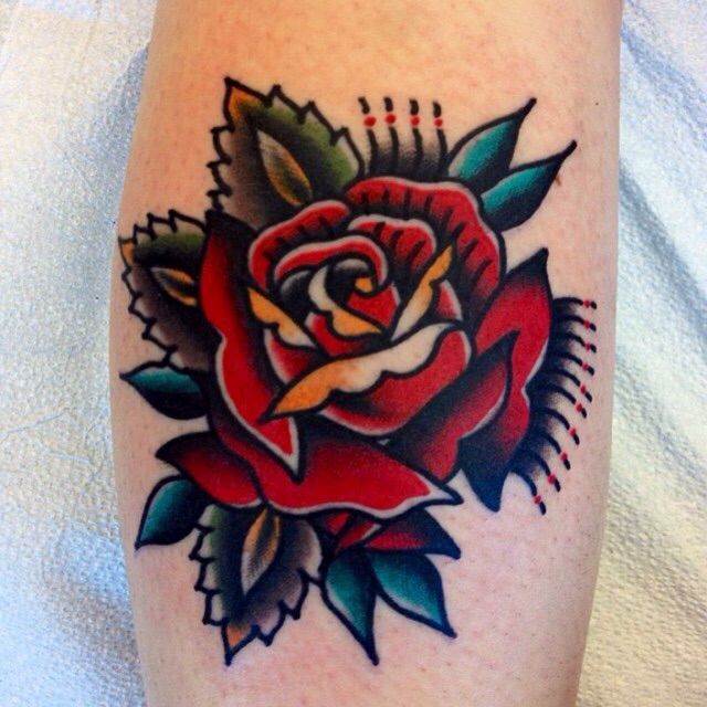 Traditional Rose Tattoo Design - Tattoo Collections