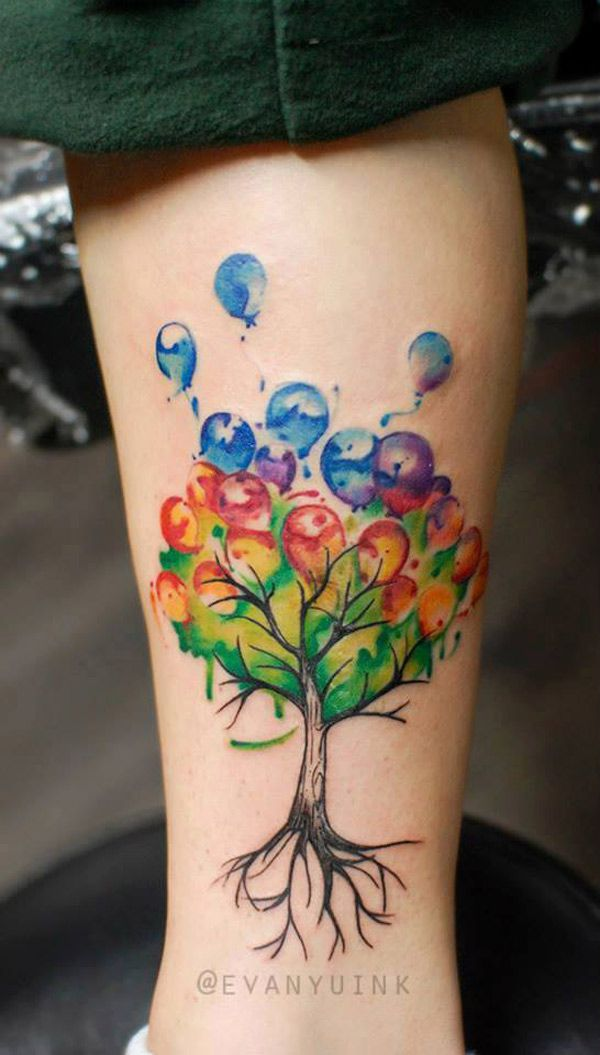 50 best balloon tattoos design and ideas. Black Bedroom Furniture Sets. Home Design Ideas